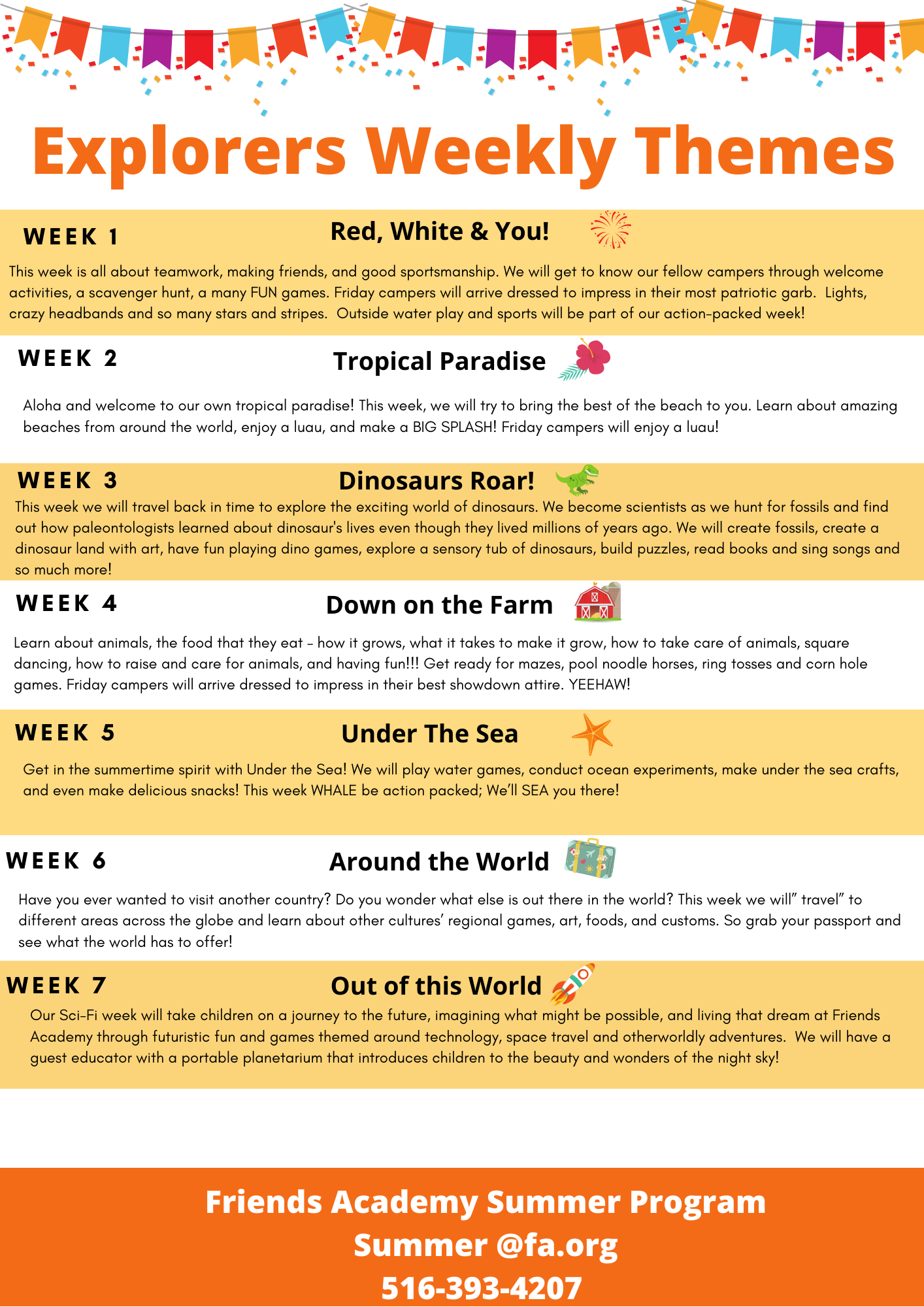 Explorers Weekly Themes