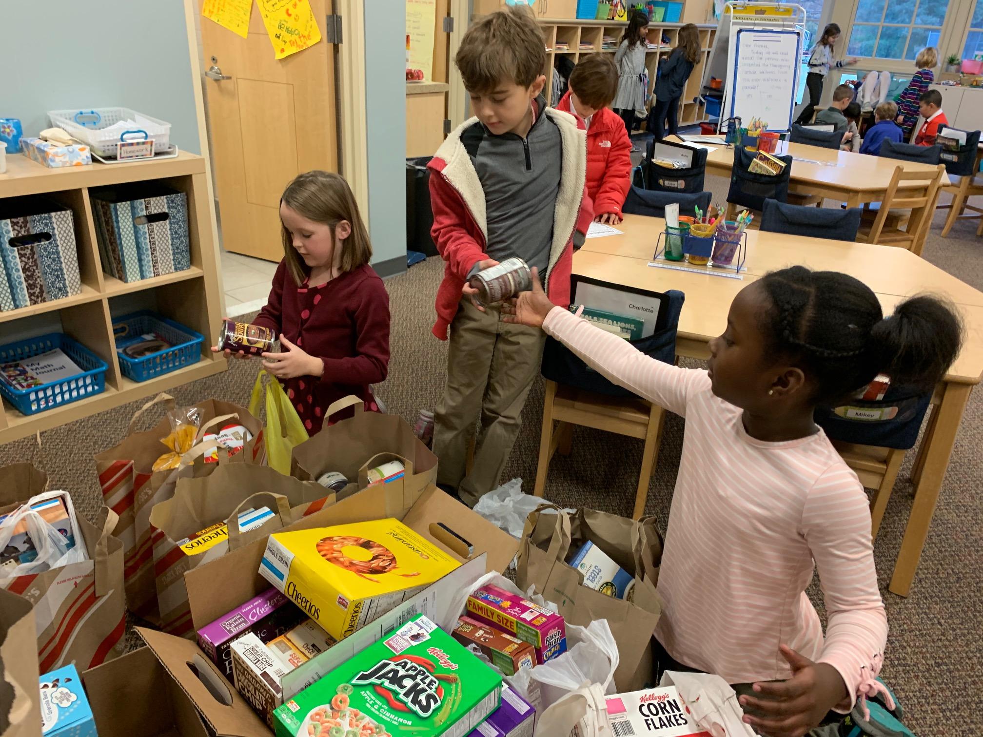 lower-school-students-food-drive