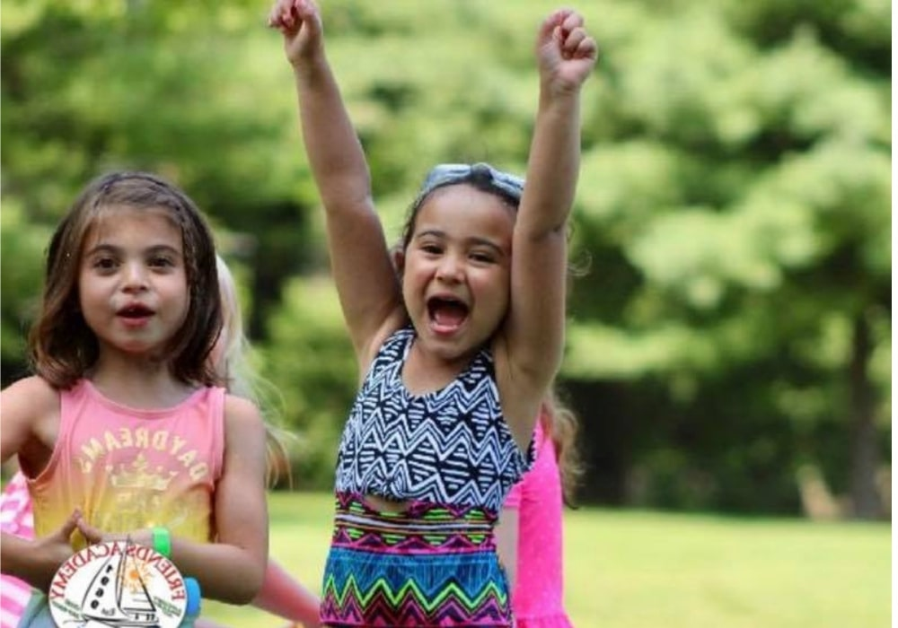 girl cheering - flipped - summer